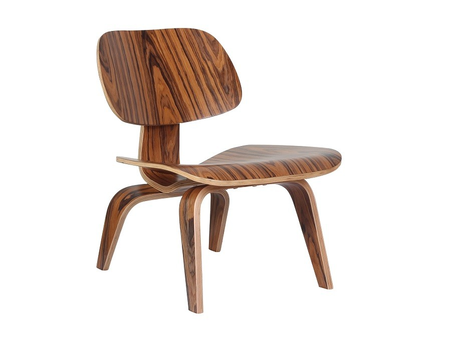 Eames Style LCW Plywood Rosewood Chair