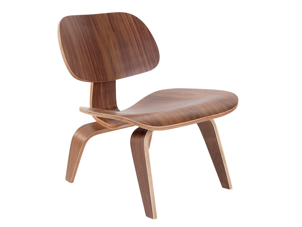 Eames Style LCW Plywood Walnutwood Chair